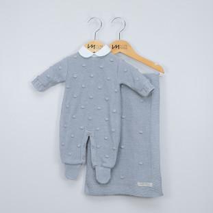 Saída de Maternidade Personalizada New York Cinza