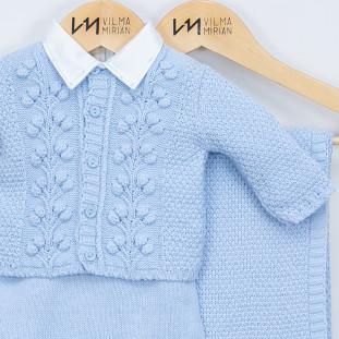 Saída de Maternidade Personalizada Londres Azul Bebê