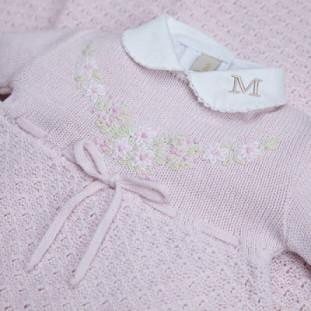 Saída de Maternidade Personalizada  Florença Rosa Bebê