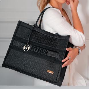 Bolsa Maternidade Liz Origem Lurex Black Edition