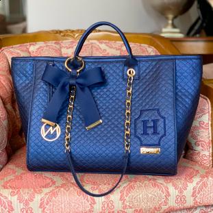 Bolsa Maternidade Cloé Master Luxo Azul Marinho
