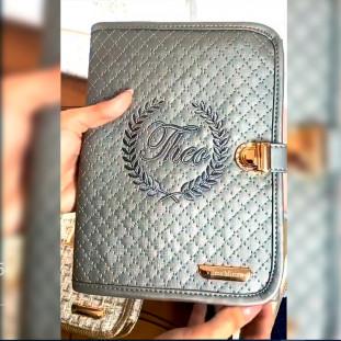 Kit Porta Documentos e Porta Cartão de Vacinas Master Luxo Cinza