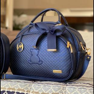 Bolsa Maternidade Média Master Luxo Azul Marinho